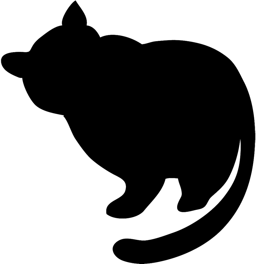 Image cat silhouette black. Fat clipart overweight