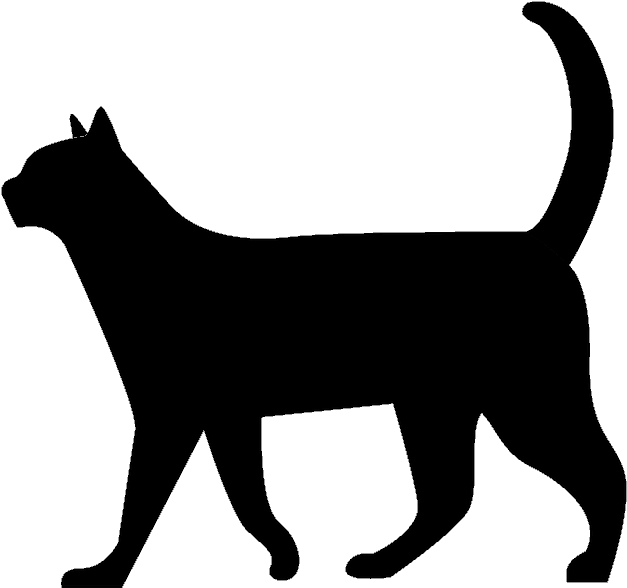 Silhouette png download clip. Clipart walking black cat