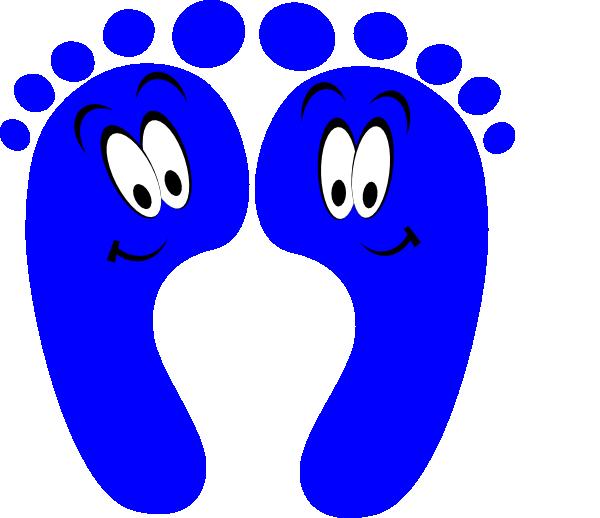 Feet clipart happy foot. Blue clip art at