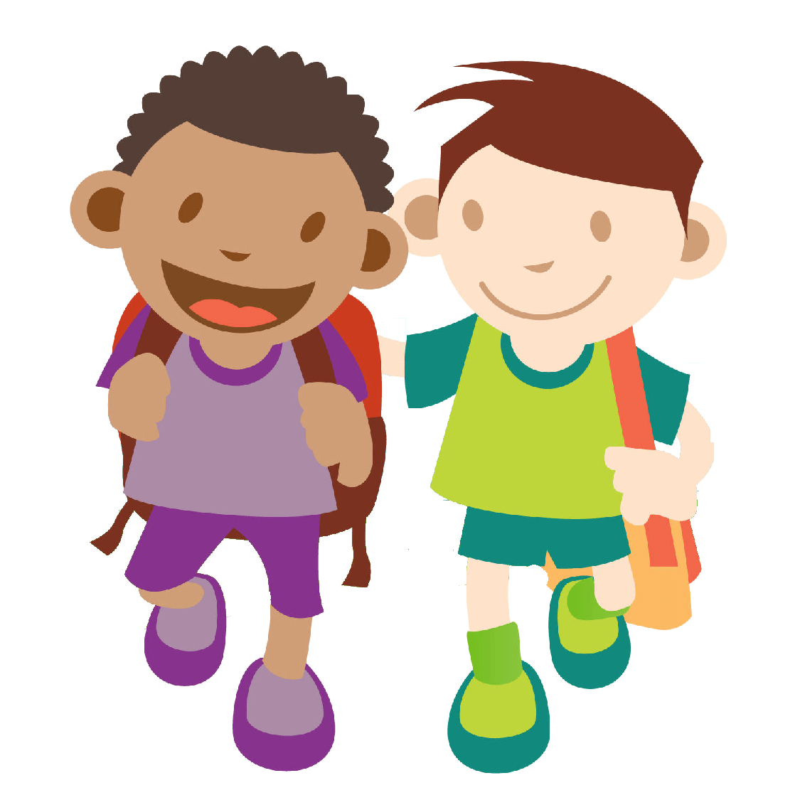 Clipart walking class line. To