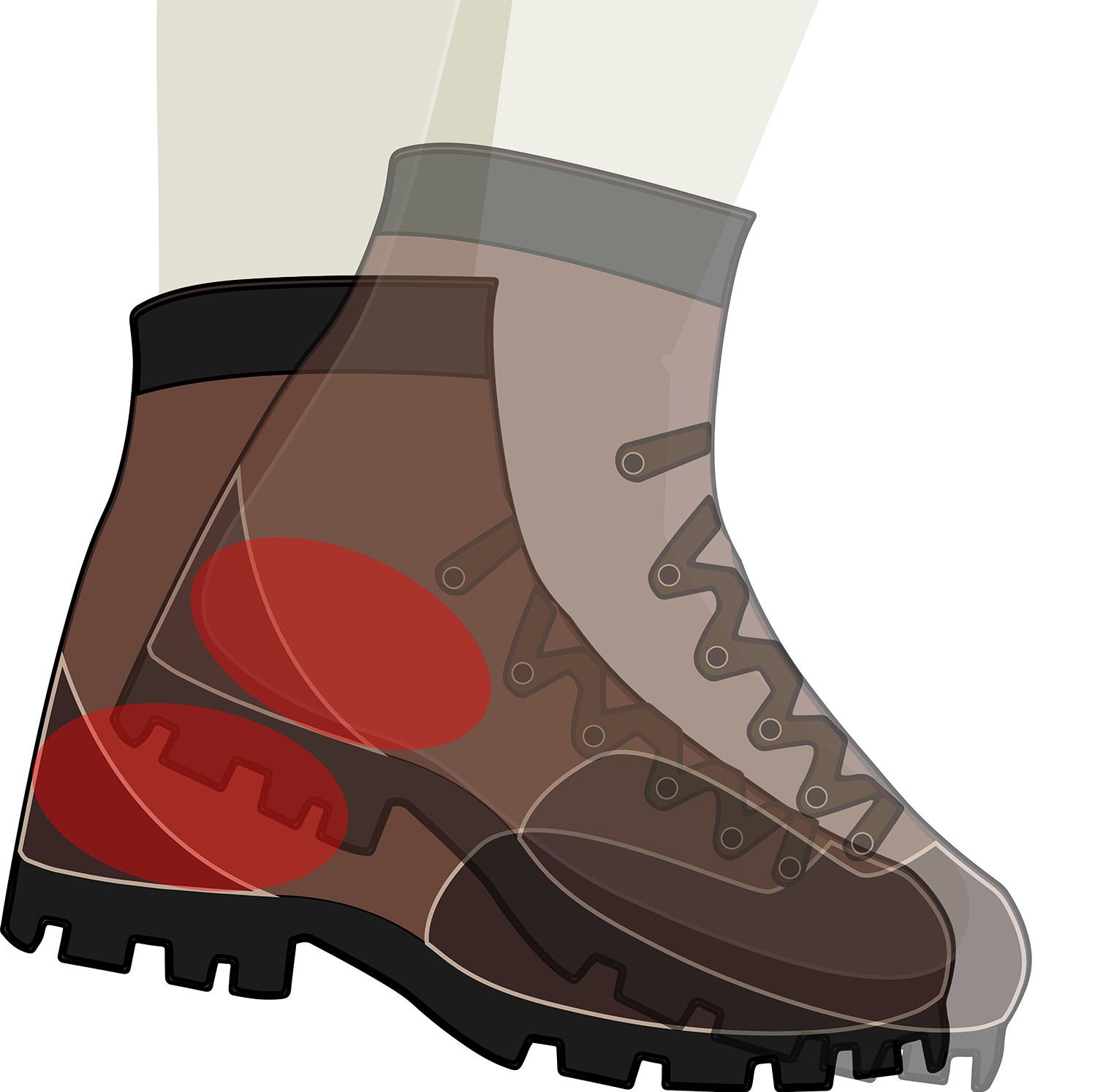 Sock clipart fitting shoe. Footwear bushwalking howtofithikingboots