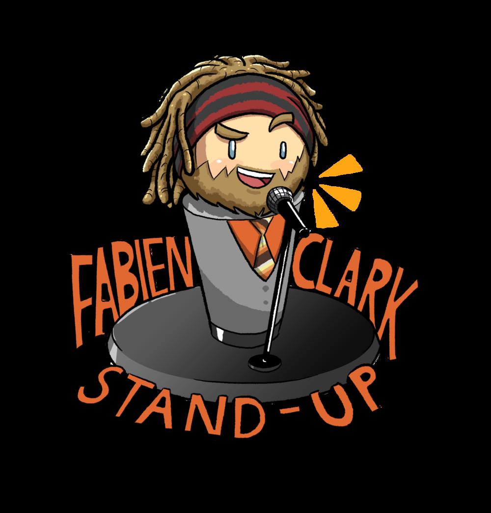 Fabien clark logo finalpng. Clipart walking crude