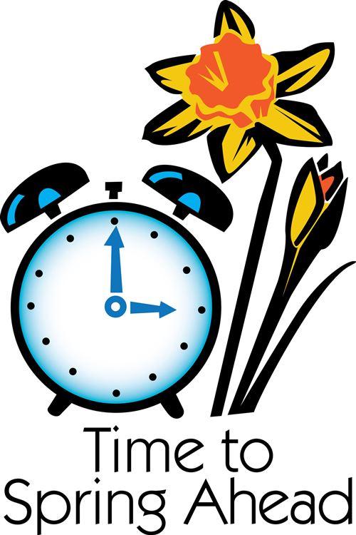 Clocks clipart spring. Free daylight savings time