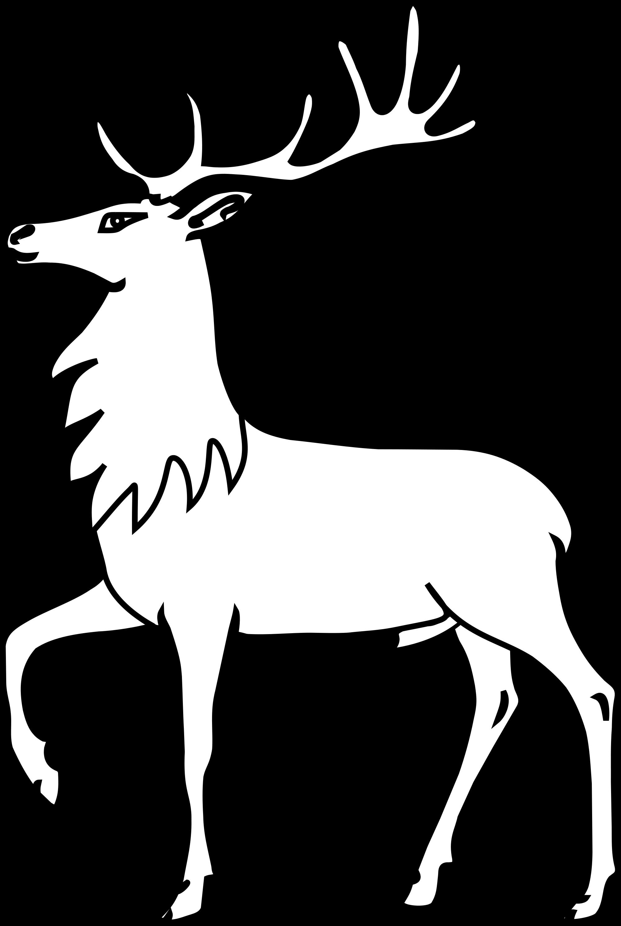 File meuble h raldique. Clipart walking deer