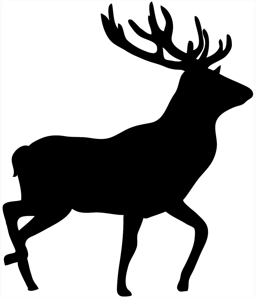 Free walking cliparts download. Deer clipart silhouette