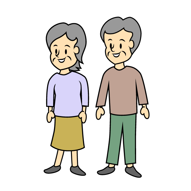 Free older couple image. Clipart walking elderly