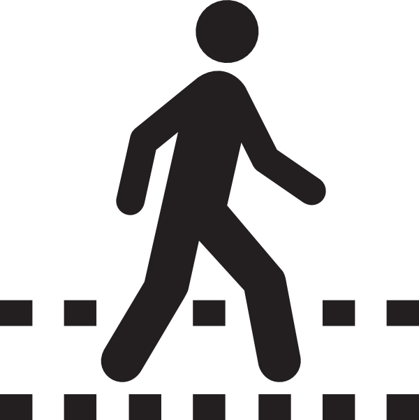 Pedestrian panda free images. One clipart blank
