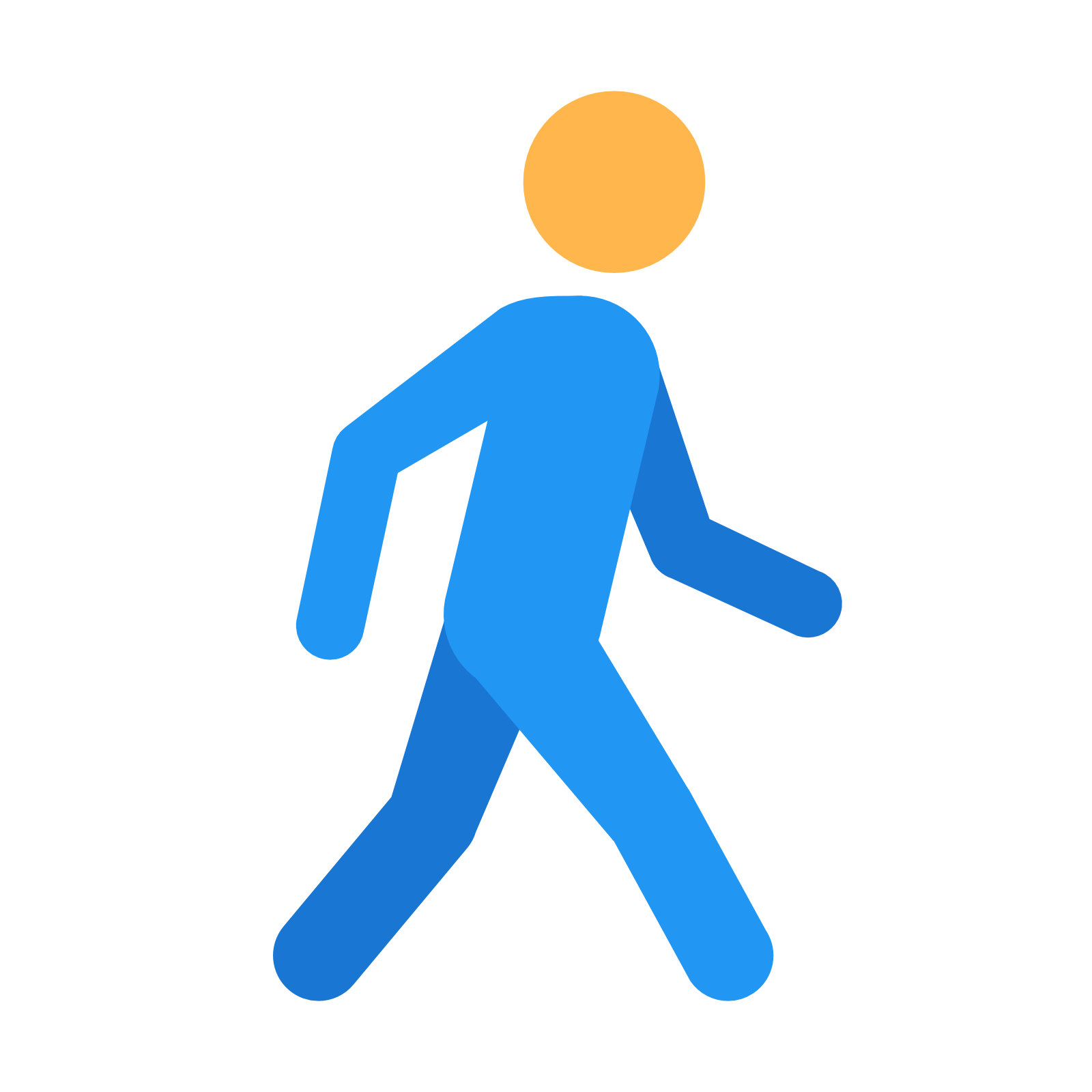 Clipart walking fast.  collection of person