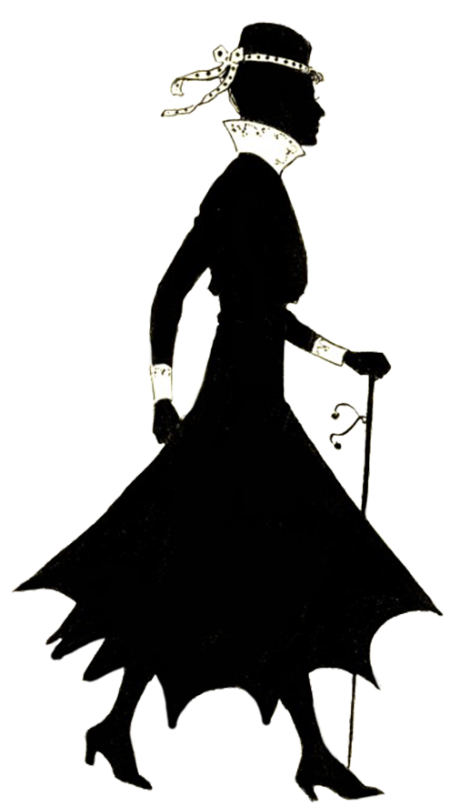 Lady clipart vintage. Silhouette of woman walking