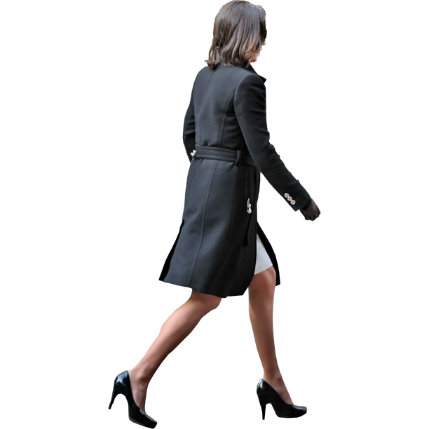 Clipart walking female walking. Business woman by facemepls