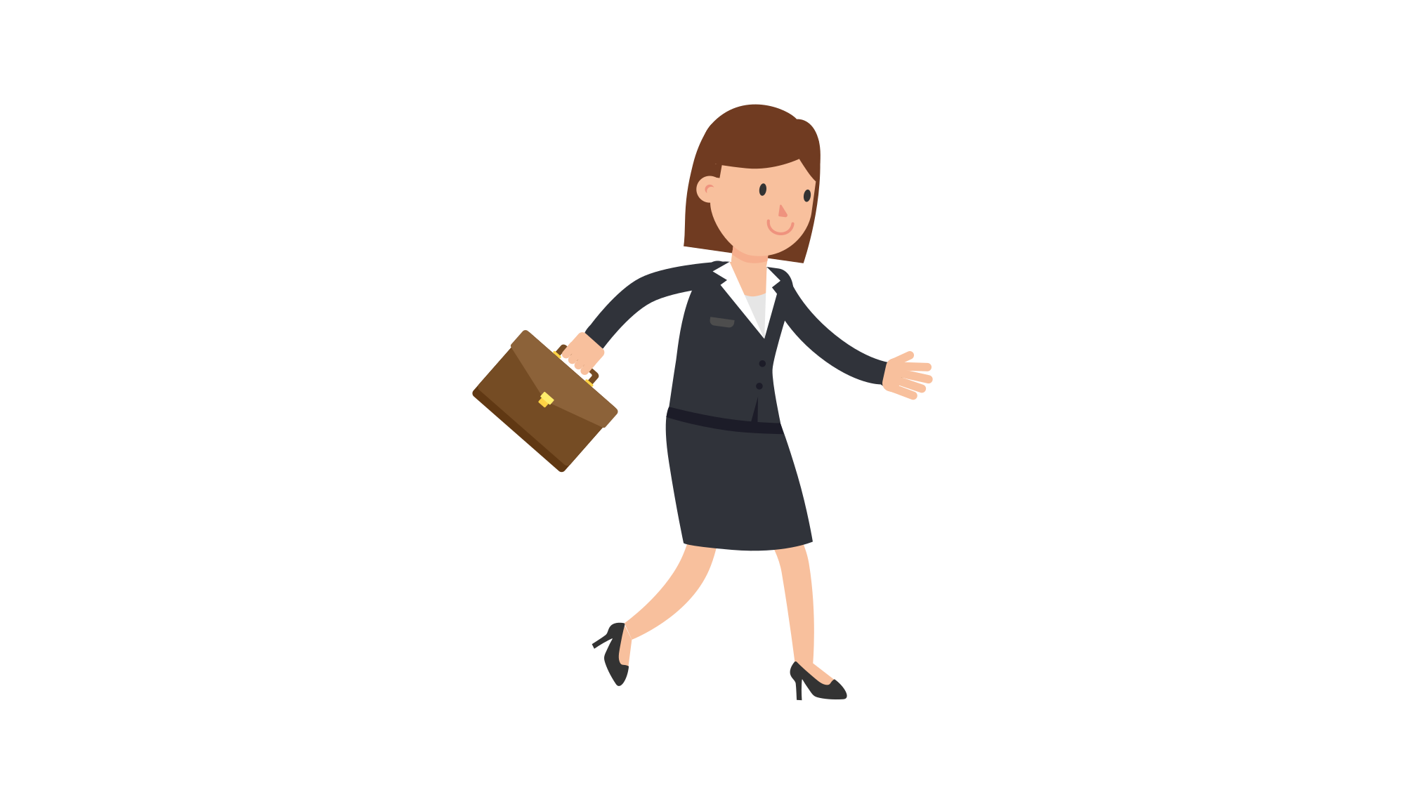 File corporate woman with. Clipart walking female walking