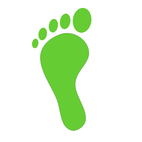 Footsteps clipart colored. Footprint panda free images