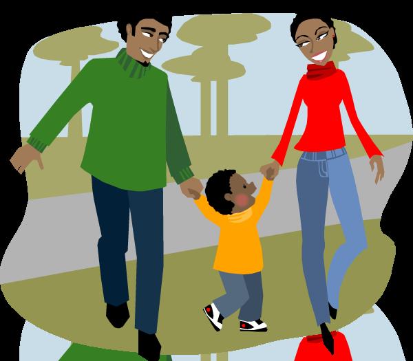 Family fun health walk. Healthy clipart healthy day