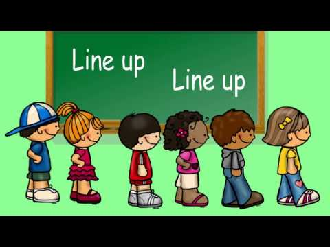 In line clip art. Clipart walking lined up