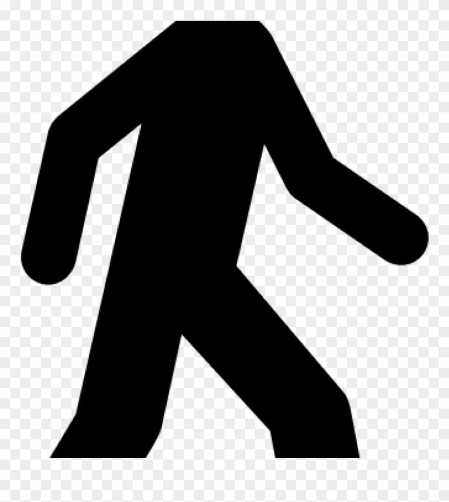 Clipart walking man illustration. Black clip art at