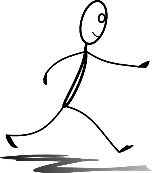 Stick man running group. Exercising clipart runningclip