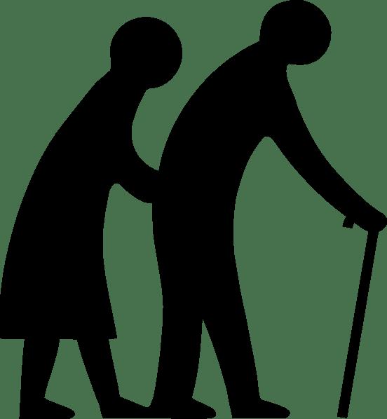 Elders habits the art. Clipart walking mobility