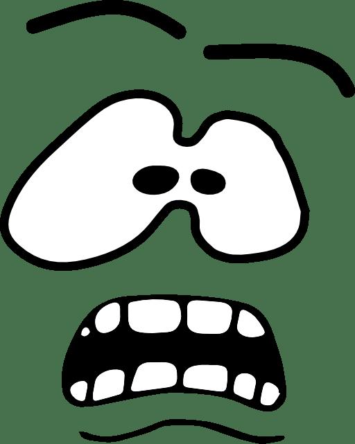 fear clipart fear face