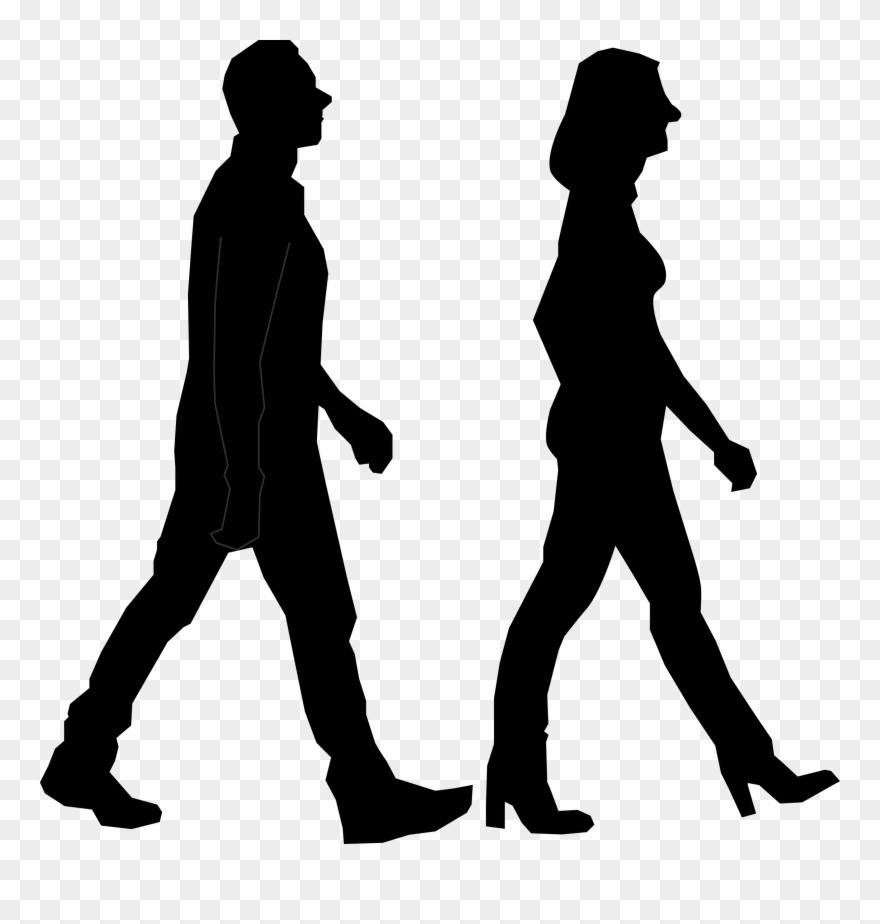 Silhouette person people png. Clipart walking outline