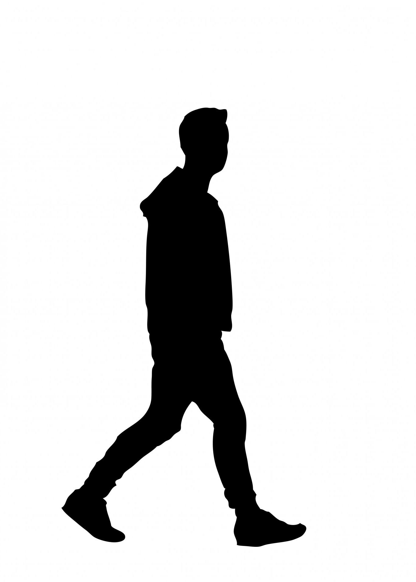 Human silhouette free download. Clipart walking outline
