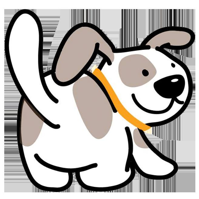 Bark walk play orange. Want clipart wag