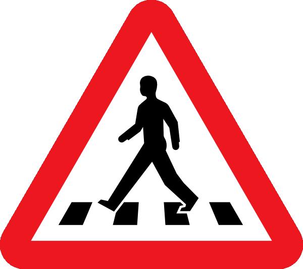 Crossing clip art at. Clipart walking pedestrian