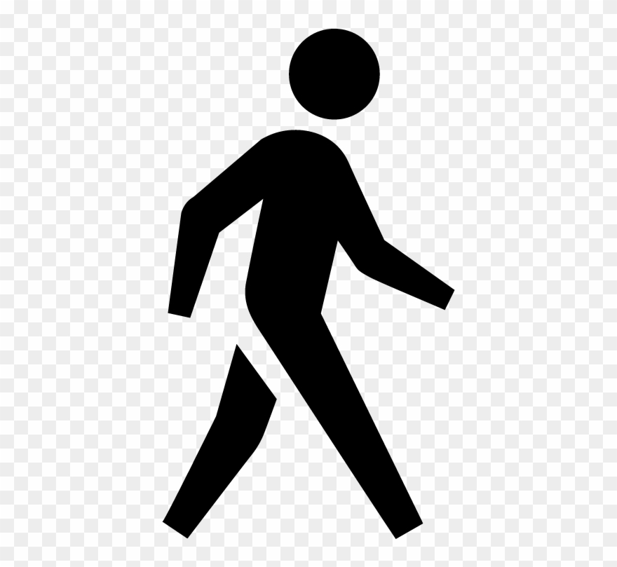 Clipart walking person. Walk people icon png