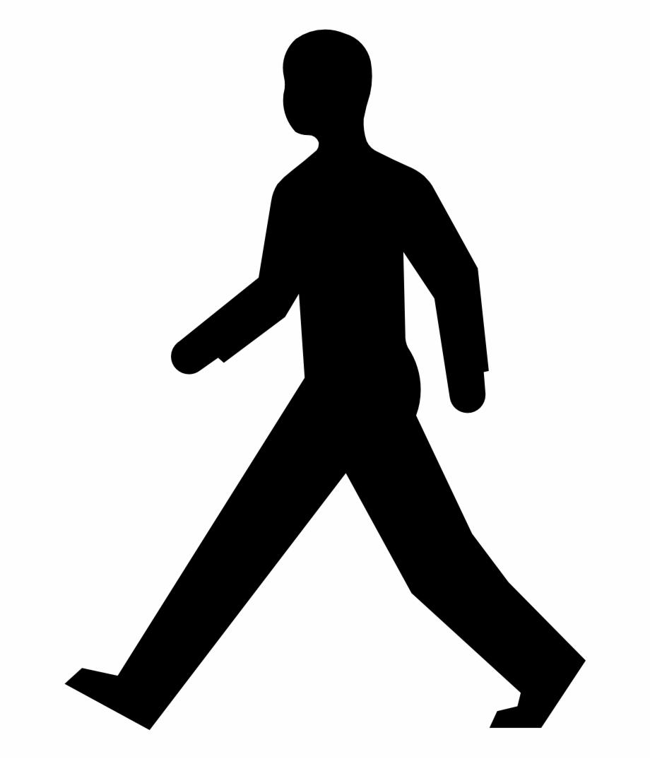 Man silhouette transparent . Clipart walking person
