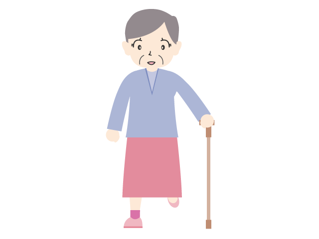 Clipart walking person cute. An old lady who