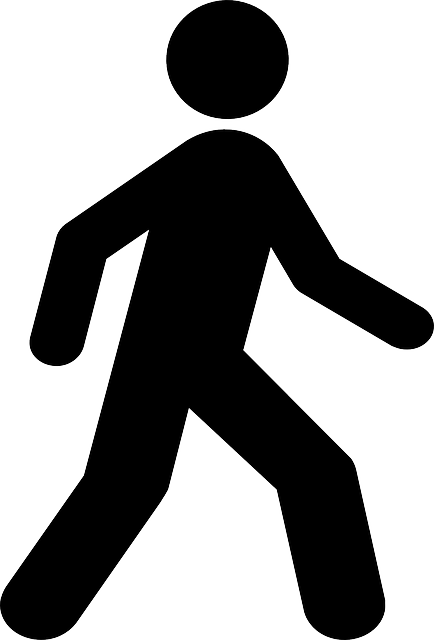 Free image on pixabay. Clipart walking person symbol