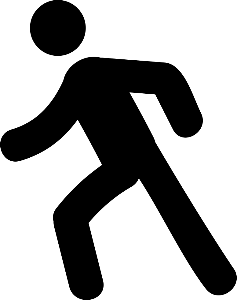 Man svg png icon. Clipart walking person symbol