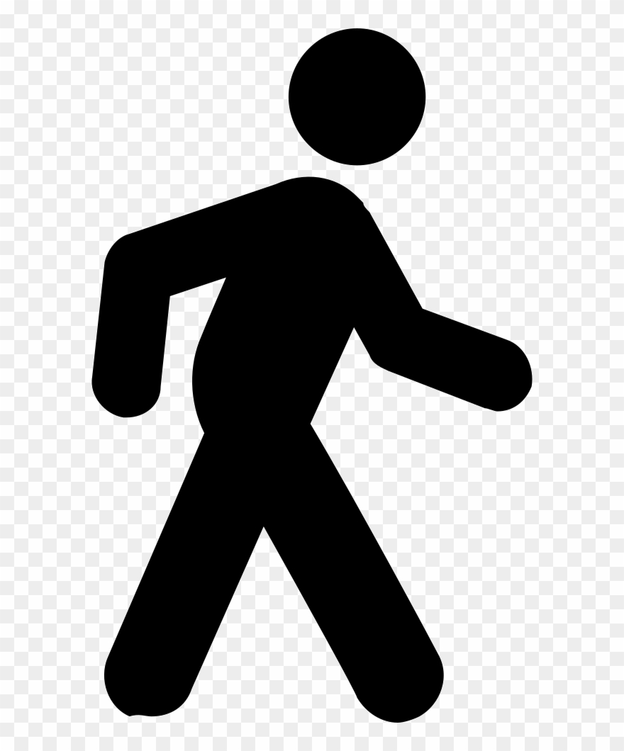 Clipart walking person symbol. Walk icon png computer