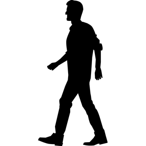 Man cliparts of free. Clipart walking person