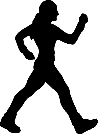 Clipart walking power walk. Her daily grail fitness