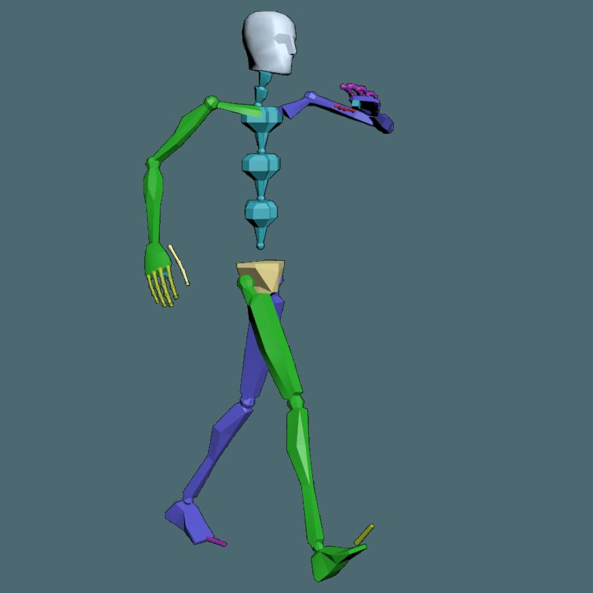 Clipart walking proper walking. Bip animations d character