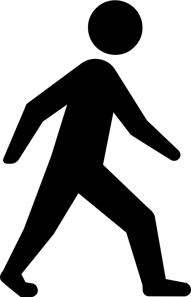 Person svg png icon. Clipart walking single file line