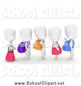 Clipart walking single file line. Royalty free stock school