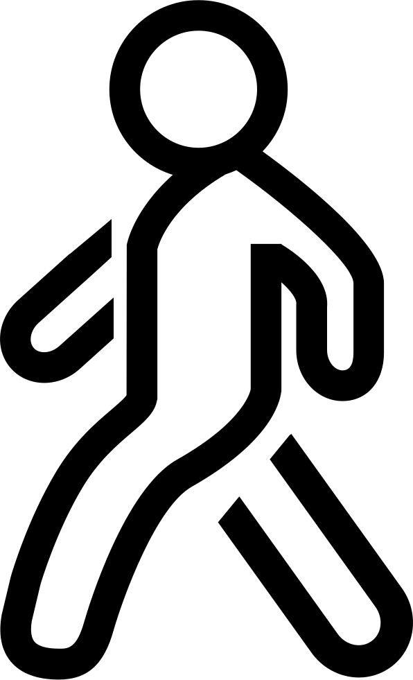 Clipart walking single file line. Walk svg png icon