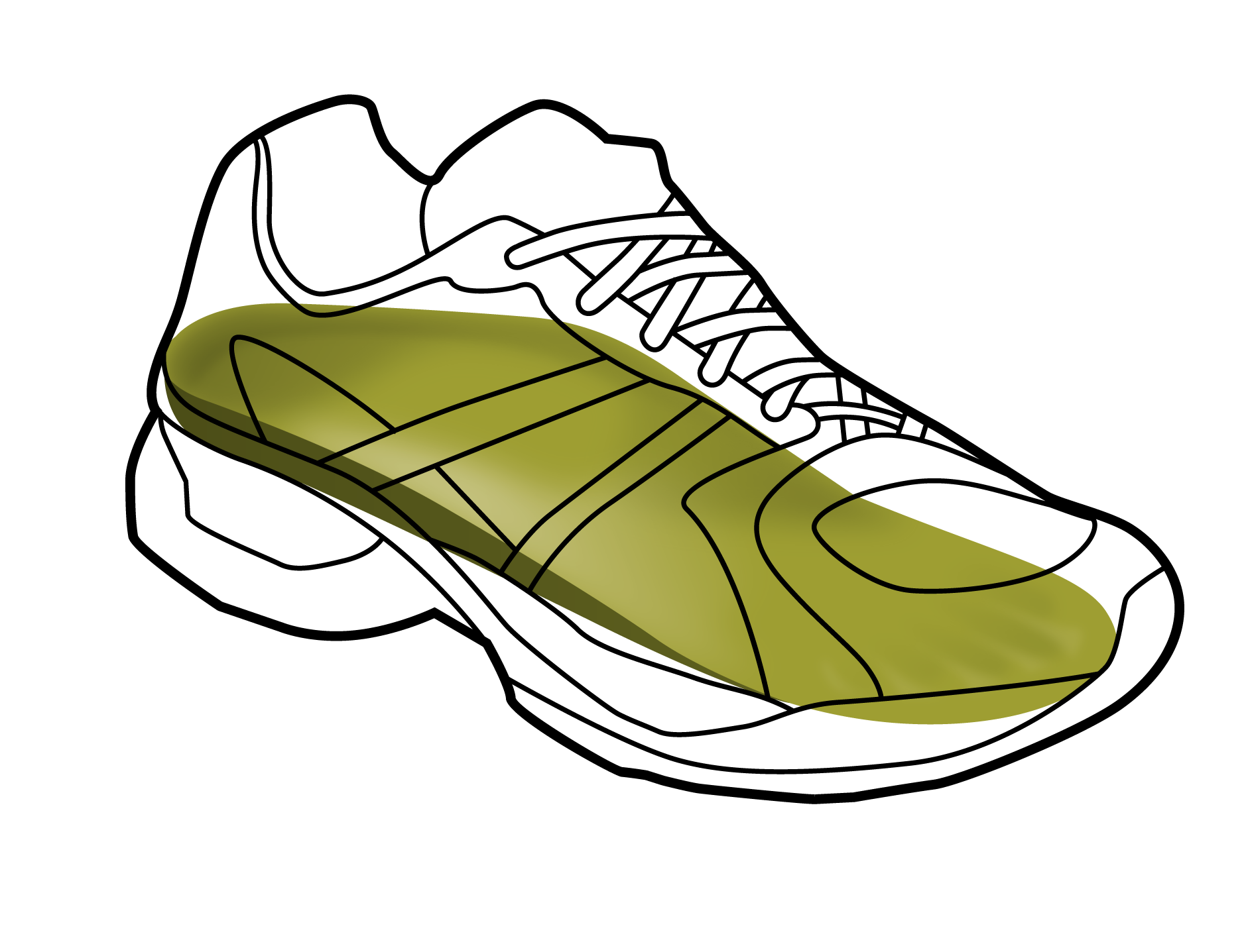 Youth running single formthotics. Track clipart shoe hermes