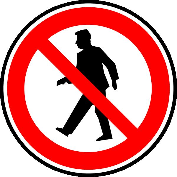 No pedestrians clip art. Clipart walking sponsored walk