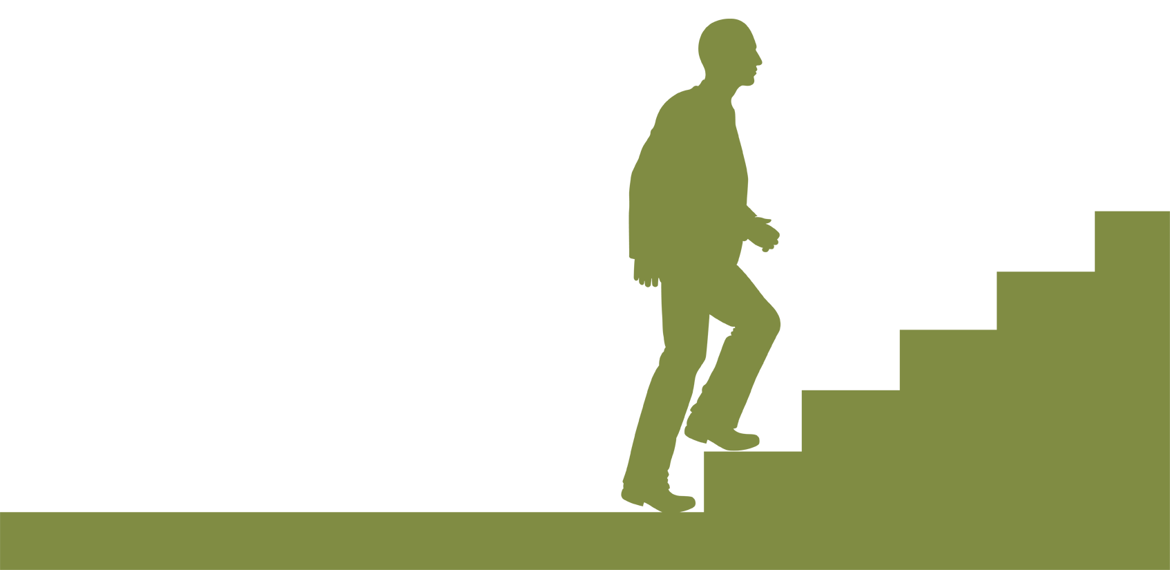 Walking up stairs silhouette. Staircase clipart success