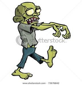 Zombie clipart walking. Clip art image a