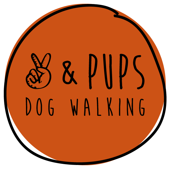 Peace pups dog . Clipart walking stride