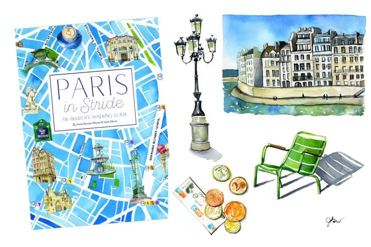 Paris in an insider. Clipart walking stride