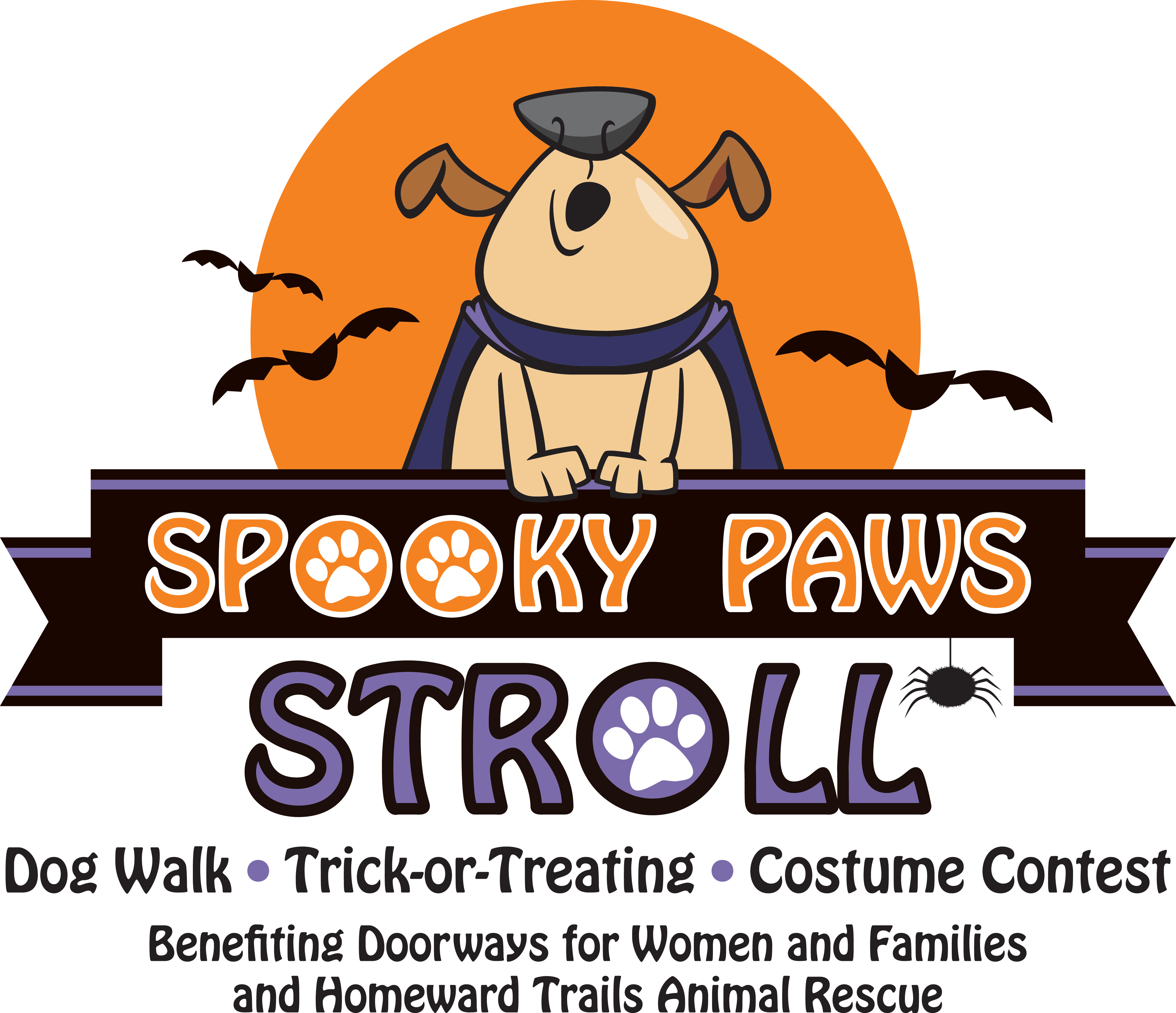Win clipart doorways. Spooky paws stroll and