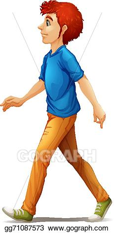 Clip art vector a. Clipart walking tall man