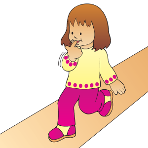 Clipart walking tune. Song down the hall