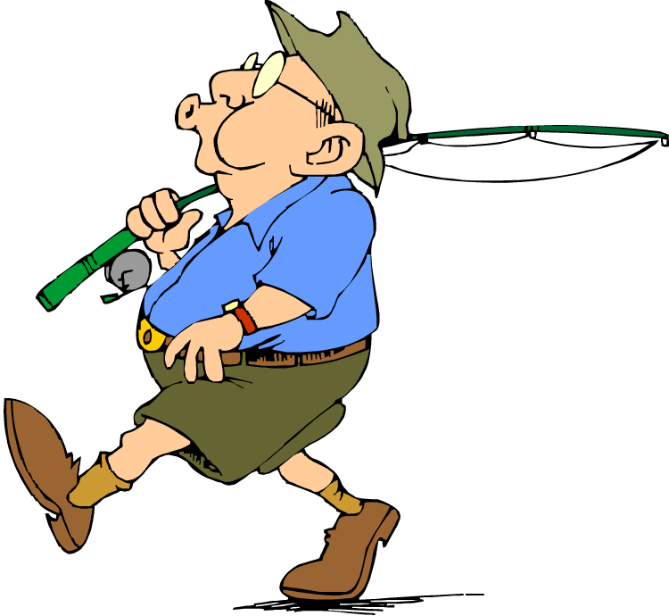 Whistling down the river. Clipart walking tune