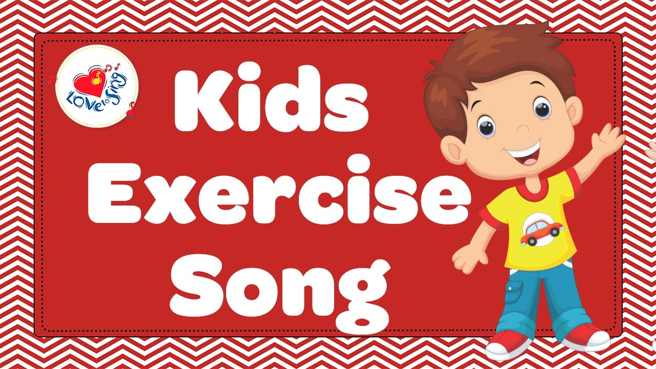 Kids exercise song hearty. Clipart walking tune