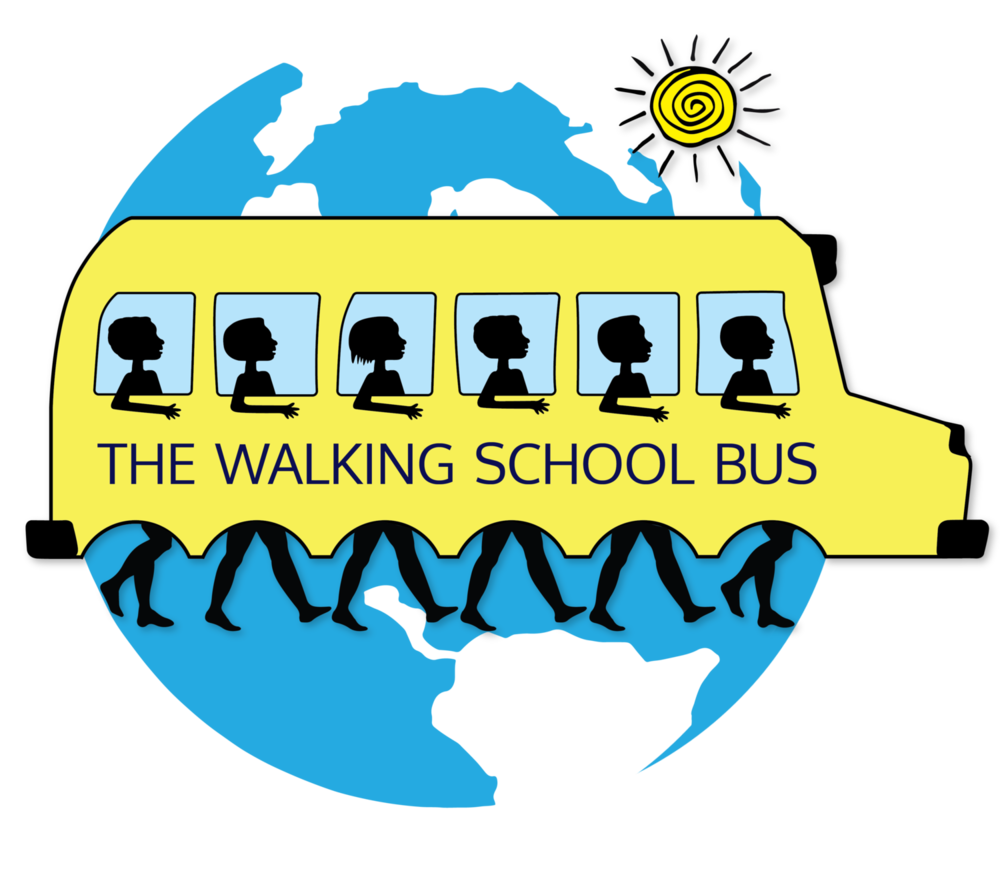 Statistics the school bus. Clipart walking two student